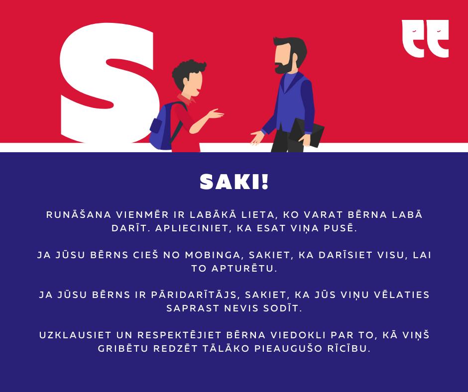#Neklusē un rīkojies ASAP: Atpazīsti, Saki, Aktivizē un Palīdzi!
